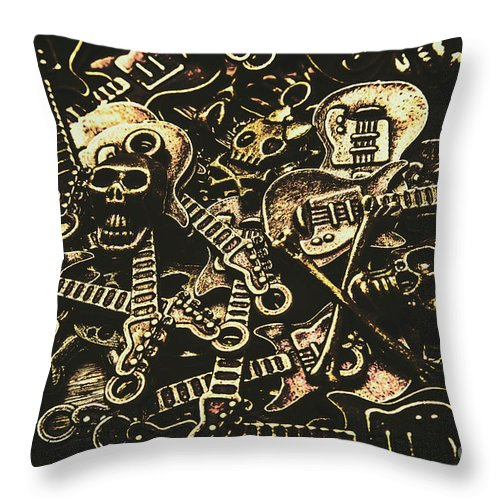 Punk Throw Pillow featuring the photograph Tones Of Hard Rock by Jorgo Photography - Wall Art Gallery