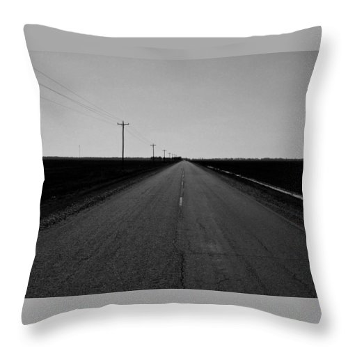 B&w Roadway Throw Pillow featuring the photograph Tones Of Home by Brad Lindsey