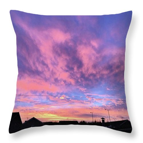 Natureonly Throw Pillow featuring the photograph Tonight's Sunset Over Tesco :) #view by John Edwards