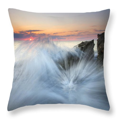 Sunrise Throw Pillow featuring the photograph Too Close For Comfort by Mike Dawson