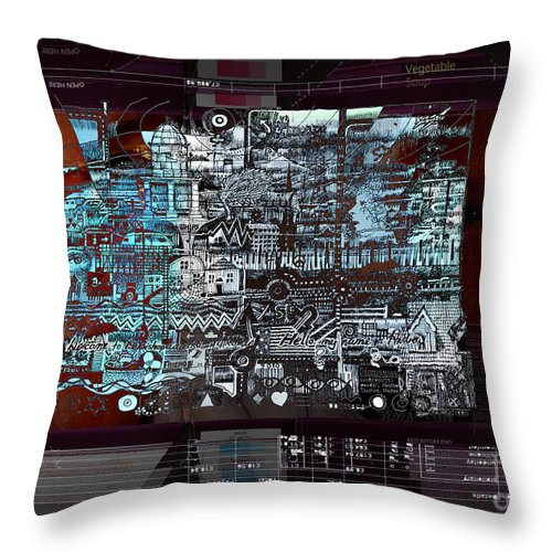 Information Throw Pillow featuring the digital art Too Much Information by Andy Mercer