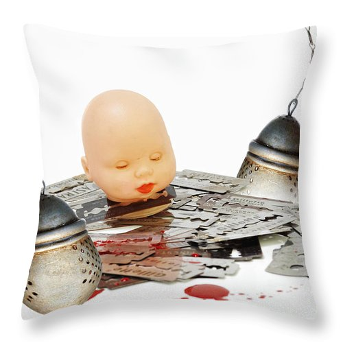 Allegory Throw Pillow featuring the photograph Too Strong Tea by Michal Boubin