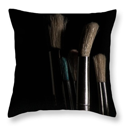 Artist Throw Pillow featuring the photograph Tools by Eugene Campbell