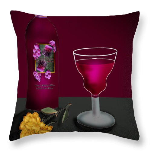 Still Life Throw Pillow featuring the painting Tools Of The Trade by Anne Norskog