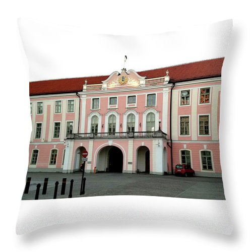 St Olaf's Throw Pillow featuring the photograph Toompea Castle by Doc Braham