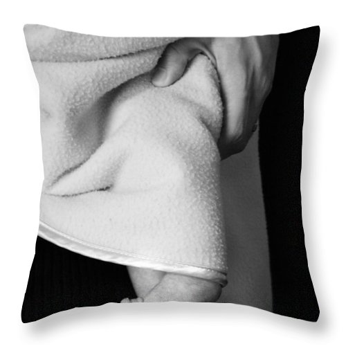 Baby Throw Pillow featuring the photograph Tootsies by Angela Rath
