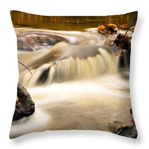 Landscape Throw Pillow featuring the photograph Top Of Miner Falls by Amanda Kiplinger