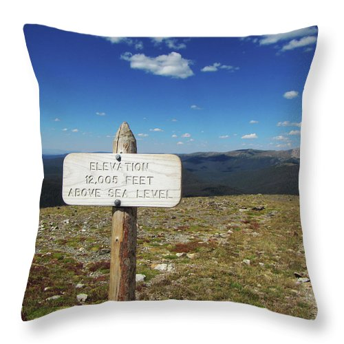 Top Of The World Throw Pillow featuring the photograph Top Of The World Trail Ridge by Marilyn Hunt