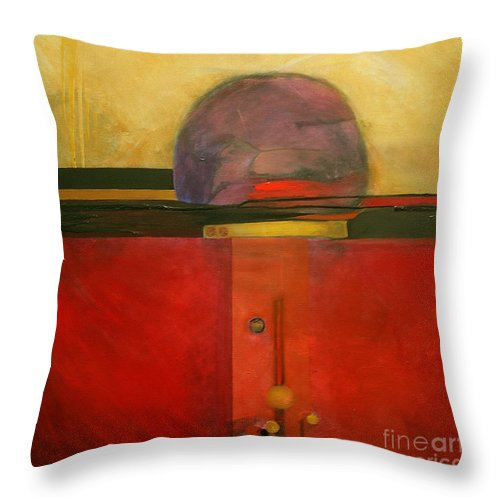 Abstract Throw Pillow featuring the painting Tops by Marlene Burns