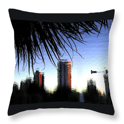 Sunset Throw Pillow featuring the photograph Topsy-turvy by Will Borden