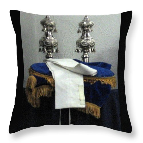 Jewish Throw Pillow featuring the photograph Torah Dressing by Amy Hosp