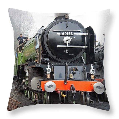Steam Throw Pillow featuring the photograph Tornado Living Steam by Bob Kemp