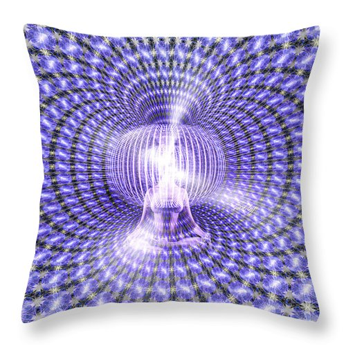 Throw Pillow featuring the painting Toroidal Hologram by Robby Donaghey