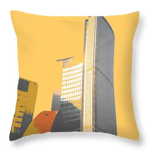 Toronto Throw Pillow featuring the photograph Toronto City Hall Arches by Ian MacDonald
