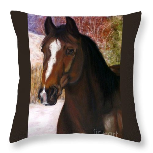 Horse Throw Pillow featuring the painting Toronto by Frances Marino