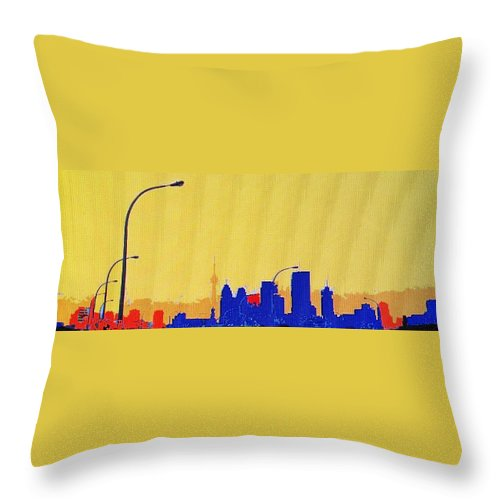 Toronto Throw Pillow featuring the photograph Toronto Lemon Skyline by Ian MacDonald