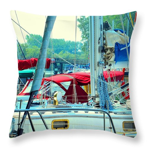 Toronto Throw Pillow featuring the photograph Toronto Nautical by Ian MacDonald