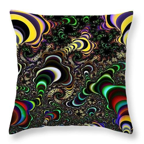 Torus Throw Pillow featuring the digital art Torus Spirals by Ron Bissett