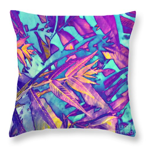 Anne Alfaro Throw Pillow featuring the digital art Tossed About by Anne Alfaro