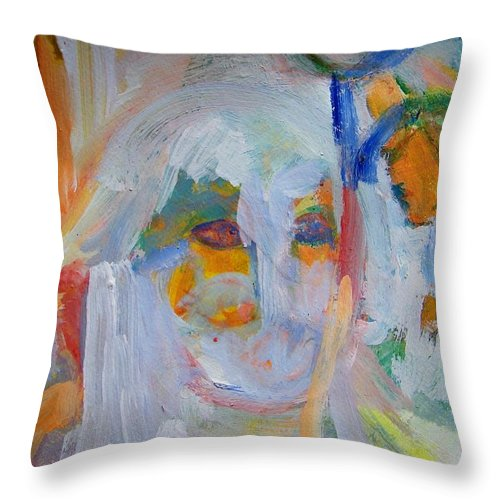 Abstract Throw Pillow featuring the painting Totally Sterile by Judith Redman