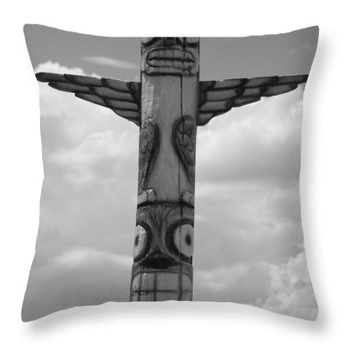 Black And White Throw Pillow featuring the photograph Totum by Rob Hans