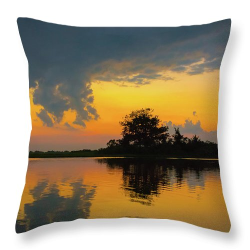 Sunset Throw Pillow featuring the photograph Touch The Sky by Jodi Lyn Jones