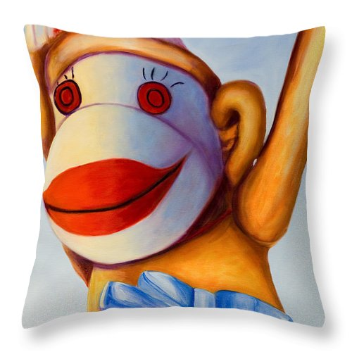 Children Throw Pillow featuring the painting Touchdown by Shannon Grissom