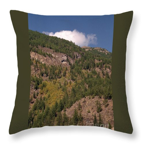Mountains Throw Pillow featuring the photograph Touching The Clouds by Richard Rizzo