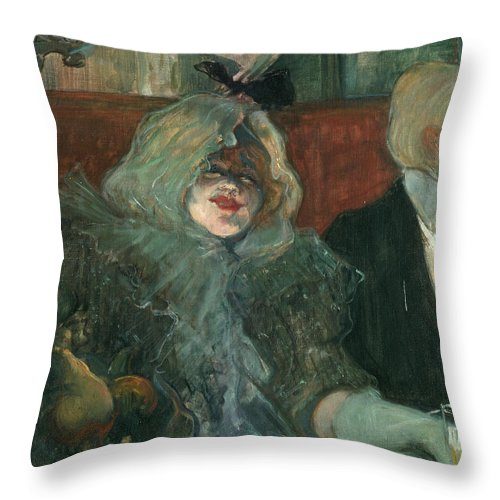 1899 Throw Pillow featuring the photograph Toulouse-lautrec, 1899 by Granger