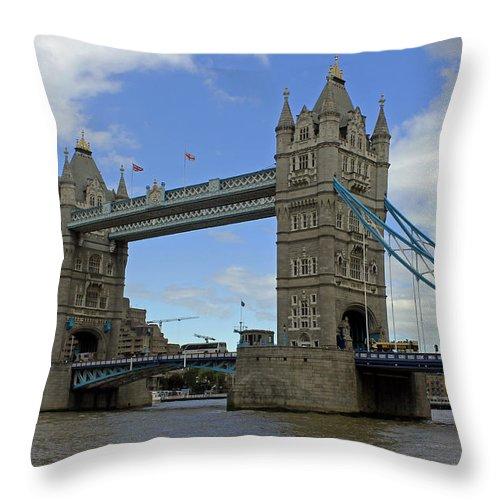 Tower Bridge Throw Pillow featuring the photograph Tower Bridge by Tony Murtagh
