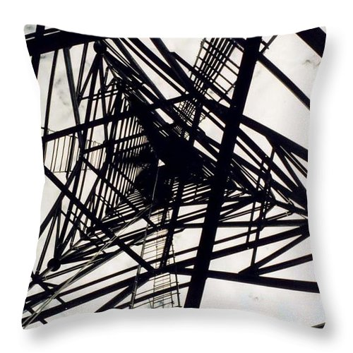 Rust Throw Pillow featuring the photograph Tower Grid by Margaret Fortunato