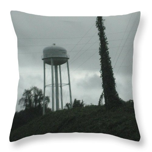 Southern Landscape Throw Pillow featuring the photograph Tower With Intersecting Lines I by Stephen Hawks
