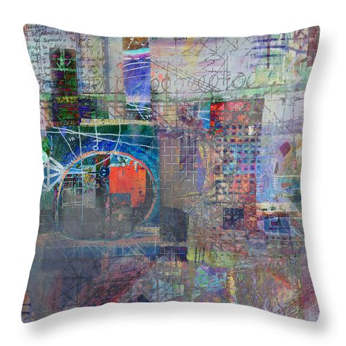 City Throw Pillow featuring the digital art Toxicity by Andy Mercer