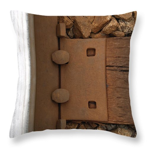 Railroad Throw Pillow featuring the photograph Track Through Pewee by Richard Larson