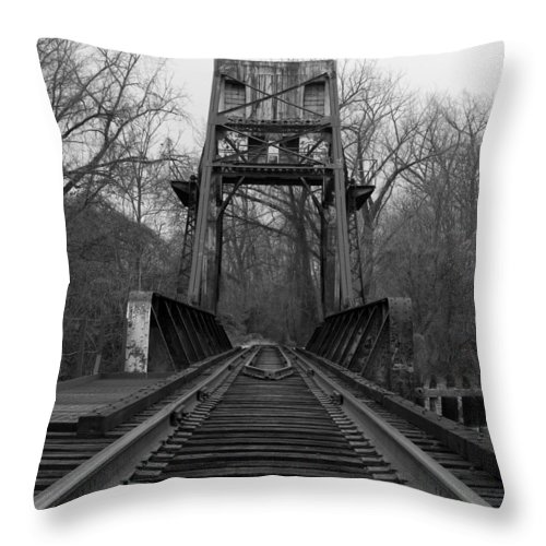 Tracks Throw Pillow featuring the photograph Tracking The Past by Kelvin Booker