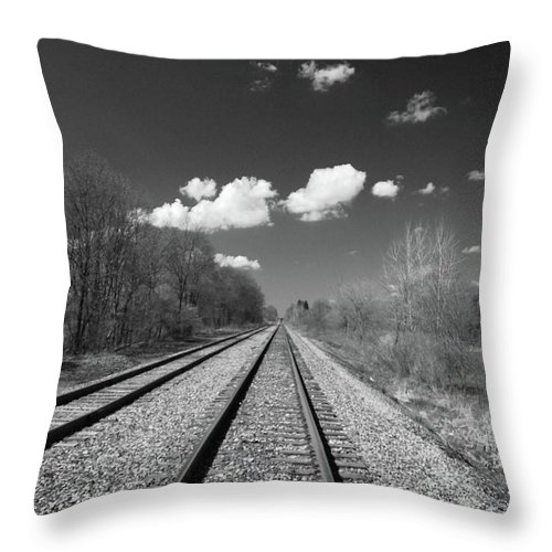 Railroad Throw Pillow featuring the photograph Tracks To Nowhere 1520 by Guy Whiteley