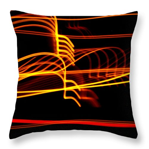 Lights Throw Pillow featuring the photograph Tractor Trailer Tremors by David Dunham