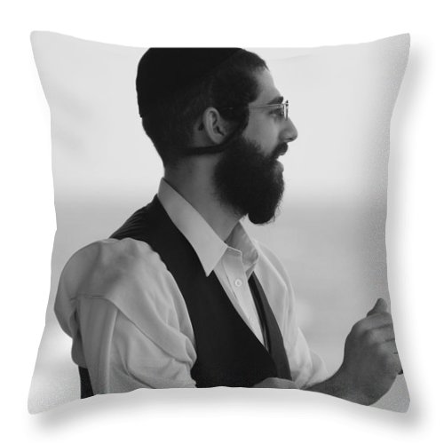 Black And White Throw Pillow featuring the photograph Tradition by Rob Hans