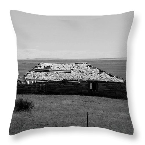 Sante Fe Trail Throw Pillow featuring the photograph Trail Ghosts by Tommy Anderson