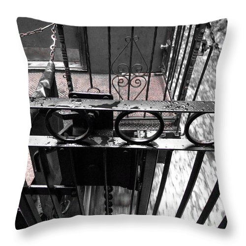 Alaska Cruise- Kev's Pix Throw Pillow featuring the photograph Train Car Rail 2 by Kevin Mcenerney