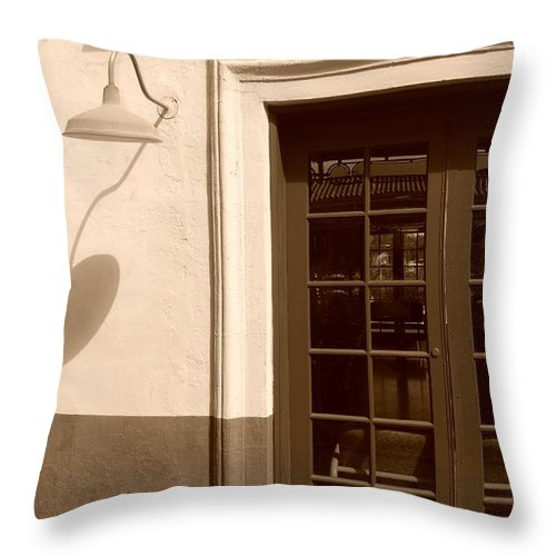 Sepia Throw Pillow featuring the photograph Train Station Of The 40s by Rob Hans