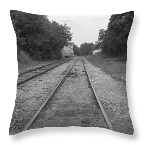 Train Throw Pillow featuring the photograph Train To Nowhere by Rhonda Barrett