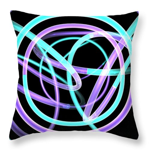 Scott Piers Throw Pillow featuring the painting Trance by Scott Piers