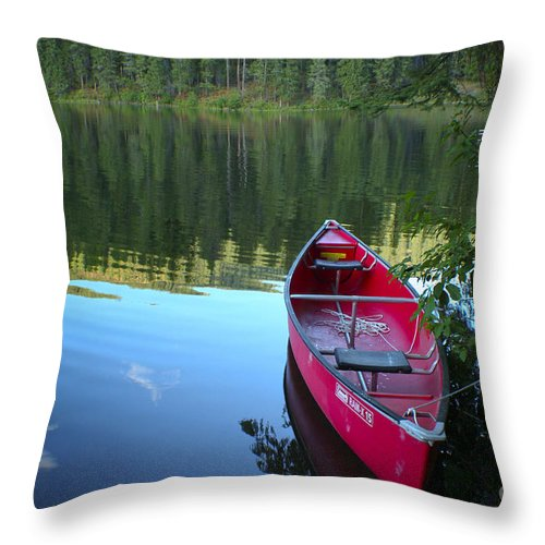 Tranquility Throw Pillow featuring the photograph Tranquil Afternoon by Idaho Scenic Images Linda Lantzy