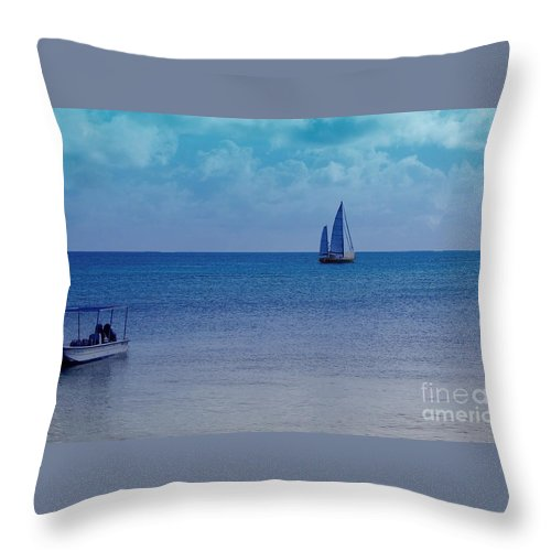Water Throw Pillow featuring the photograph Tranquil Blue by Debbi Granruth