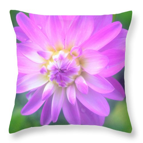 Dahlia Throw Pillow featuring the digital art Tranquil by Danecha Osborne