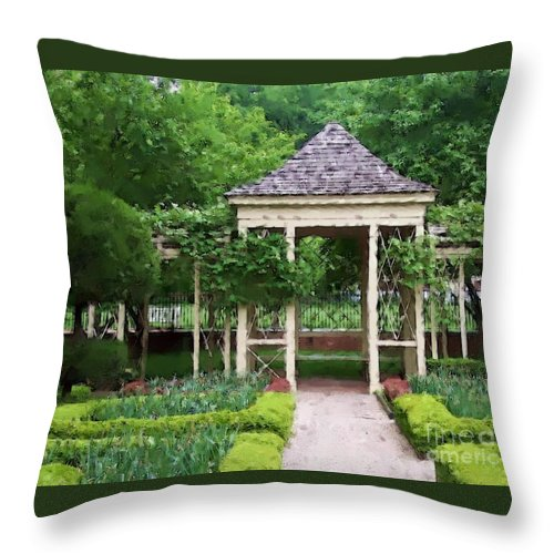 Garden Throw Pillow featuring the photograph Tranquil by Debbi Granruth