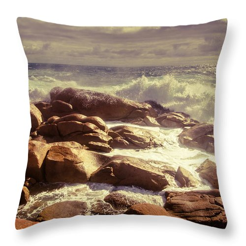 Tranquil Throw Pillow featuring the photograph Tranquil Ocean Views by Jorgo Photography - Wall Art Gallery