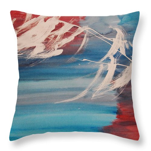Tranquility Throw Pillow featuring the painting Tranquilidad 2 by Lauren Luna