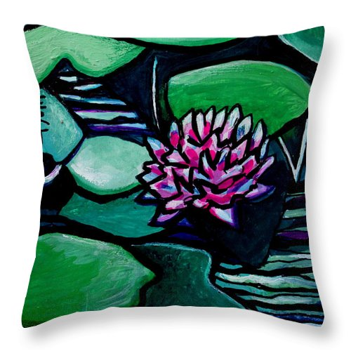 Lilly Pads Throw Pillow featuring the painting Tranquility by Elizabeth Robinette Tyndall